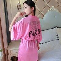 Сексуальное женское атласное ночное белье с принтом китайское кимоно для невесты купальные халаты повседневное вискозное мини домашнее пл...
