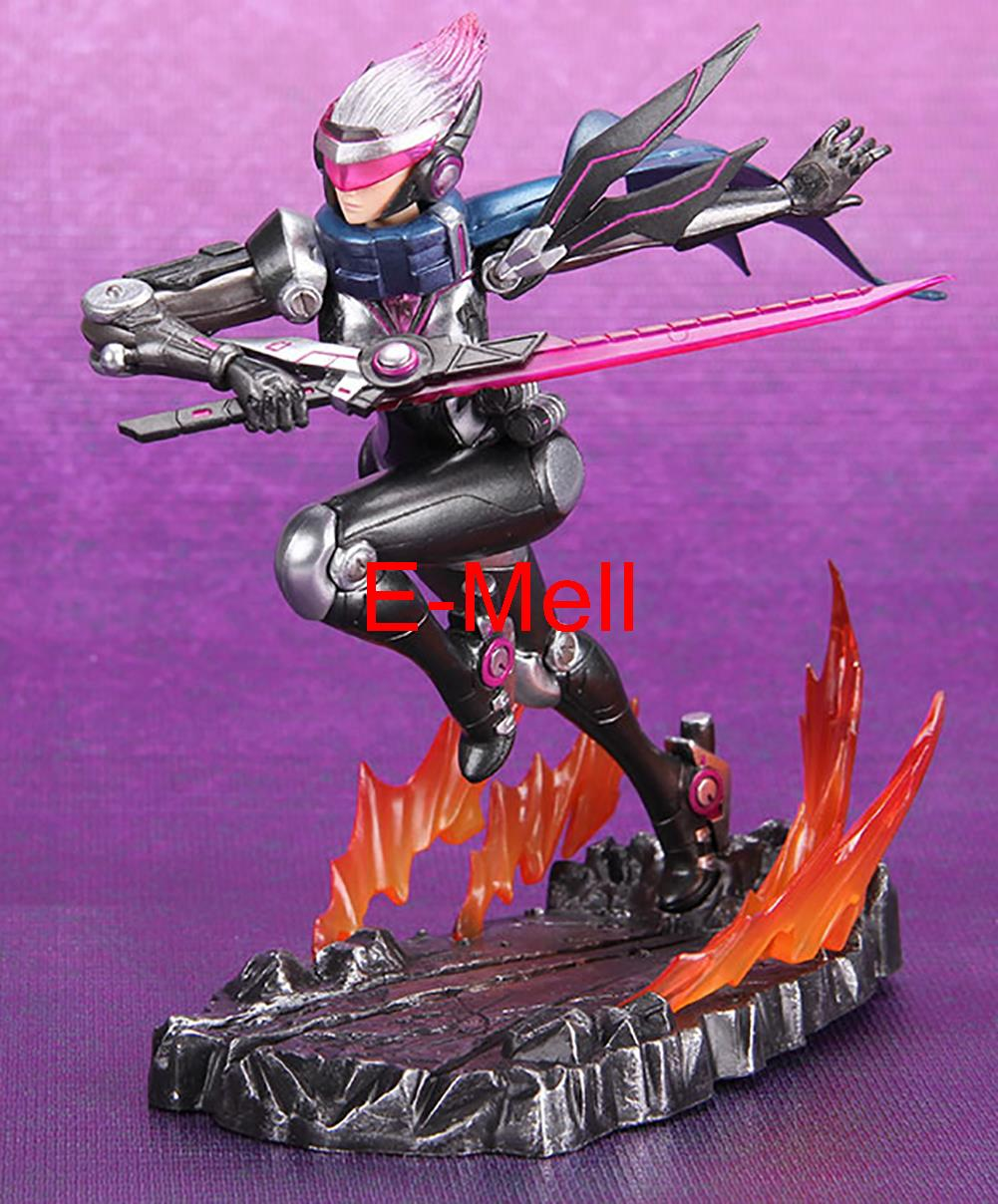 Cosplay 16cm/6.3'' LOL Grand Duelist Fiora PVC GK Garage Kits Action Figures Toys Model made for lol cosplay the loose cannon jinx 24cm 9 5 middle pvc gk action figures toys garage kits standing model