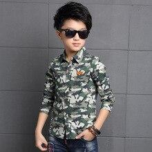 Brand Camouflage Boys Long Sleeve Shirt Blouse Daniel Wellington