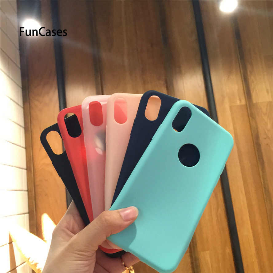 Leuke Candy Kleur Matte Frosted Case Voor Iphone 6 6S 7 8 Plus Tpu Siliconen Soft Cover Voor iphone 7 7Plus X 5 5S Se Ipohne