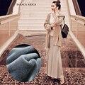 Invierno y Otoño Moda de Las Mujeres Muchachas de La Falda de Cintura Alta de Algodón Pelusa Larga Trompeta Falda Saias Femininas Wholesale