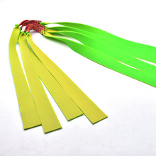 10pcs hunting slinghot flat rubber band  1.2mm thickness green color powerful catapult slingshot latex