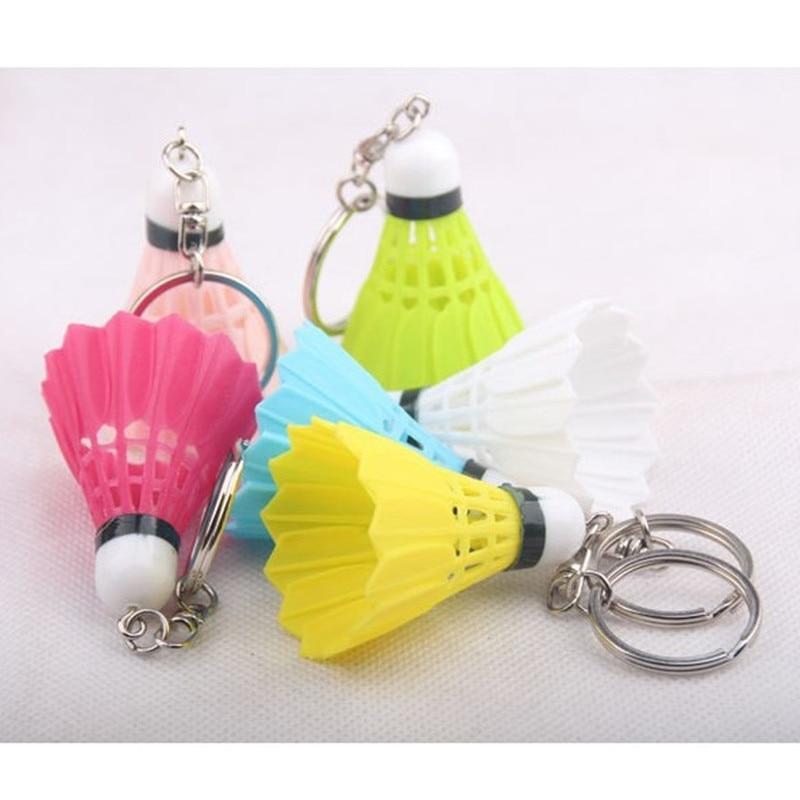 Takı ve Aksesuarları'ten Anahtar Zincirleri'de 500 adet/grup Renkli badminton anahtarlık spor anahtarlık anahtarlık Kolye anahtarlık Plastik şeker renk'da  Grup 1