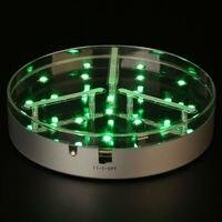10ชิ้นจัดส่งฟรีควบคุมระยะไกลLight Upสูงกลางแจกัน/LEDฐานภายใต้มาร์ติแจกันแก้วแสงสำหรับขายส่