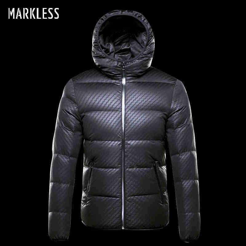 Markless зимний бесшовный пуховик брендовая одежда толстая 90% белый утиный пух ветрозащитное теплое пальто с капюшоном парка для мужчин и женщи...