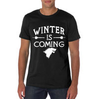 Game Of Thrones Winter Is Coming T Shirt Men Printed Design T Shirt USA Size S