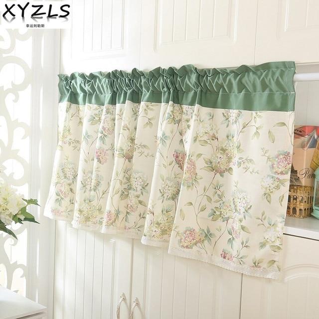 xyzls koreaanse stijl pastorale schaduw keuken gordijnen koffie winkel half gordijn deur cortina korte panel gordijnen
