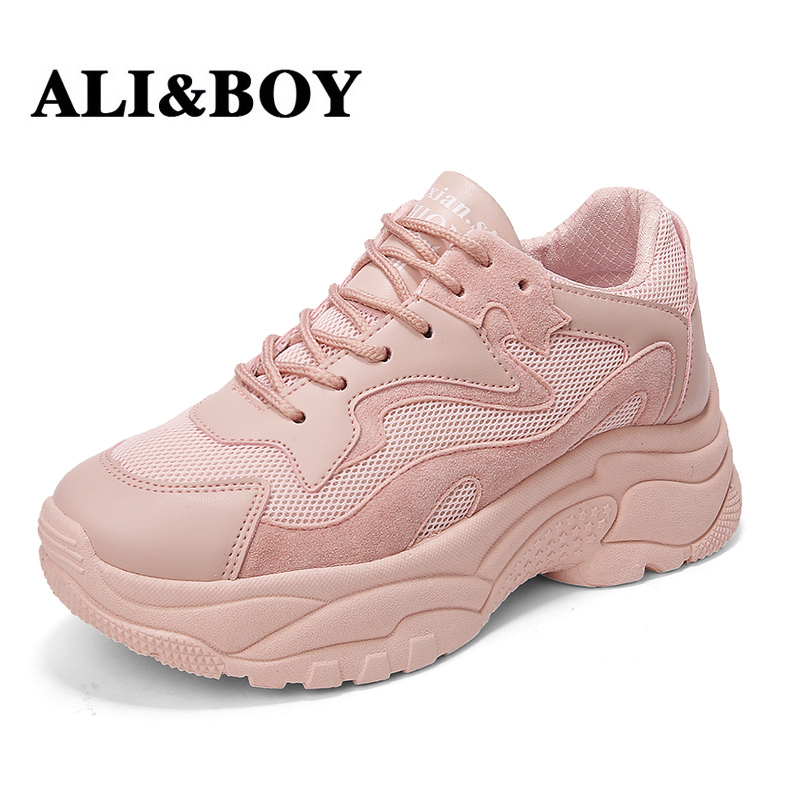 ALIBOY Sneakers Krasovki Women running shoes Woman Breathable Ladies Walking Shoes White Jogging Outdoor Chaussure Femme