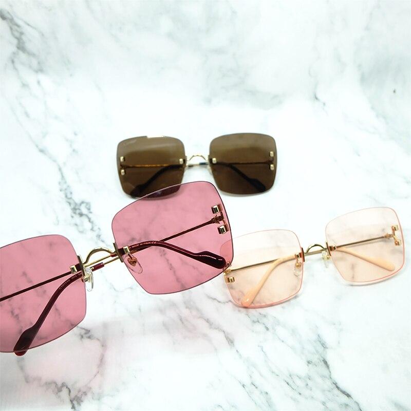 Rinless Sonnenbrille Männer Metall Big C Carter Sonnenbrille Herren Zubehör Luxus Marke Designer Shades Gafas De Sol Mujer Sonnenbrille - 6