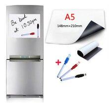 Магнитная доска размера a5 3 ручки на водной основе для холодильника