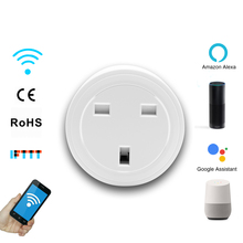 3 Pin UK Wifi Plug Adapter Smart Wifi Socket Auto Timer Remote Wireless App Control For Smart Home Switch Alexa Voice IFTTT недорого