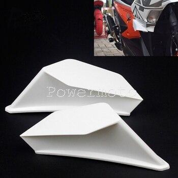 Kit aerodinámico de 2 uds. Para motocicleta, Kit de alas para Honda NC, CB, CBR, Kawasaki, Ninja ZR, ZX, Yamaha y YZF, en blanco, negro y rojo
