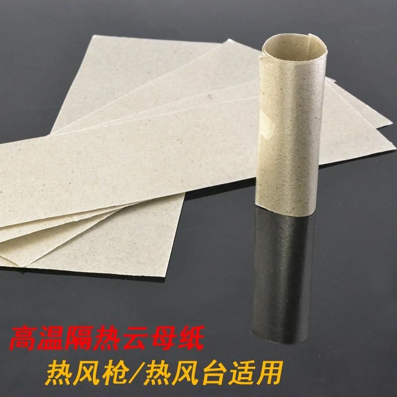 5 Pcs Per Set High Temperature Resistant Insulating Mica Mica Paper Rolls Of Plastic Welding Hot Air Gun Heater Insulation