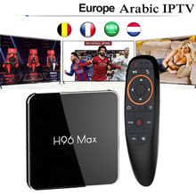 H96max Android 8.1 Smart TV Box With IPTV subscription 3/6/12 Months Italy Belgium France UK Spain Portugal Arabic Adult Sport(China)