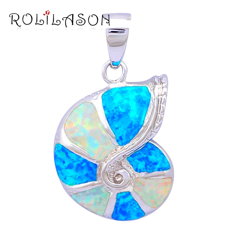 Fashionable Blue&White fireplace Created opal actual pure silver 925 sterling silver necklace pendant fantastic jewellery for Black Friday SP11 silver necklace pendant, silver 925 jewellery pendants, sterling silver 925...