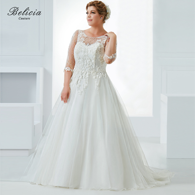 Belicia Couture Women Sweetheart Embroidery Lace Tulle Bridal Gown ...