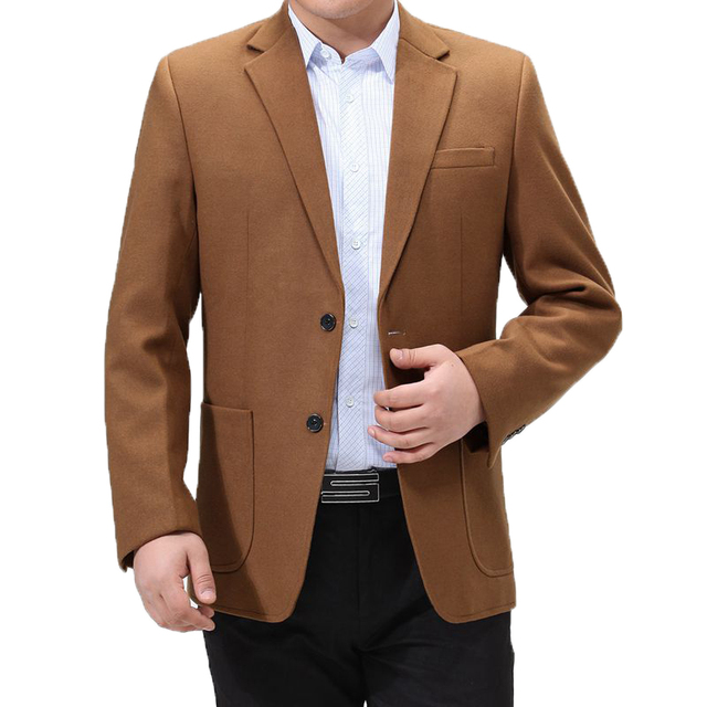 WAEOLSA Mens Blazers Plain Color Suit Coat Slim Fit Outfits Red Gray Camel Blazer Hombre Tailored Suit Jacket Man Costume 2019
