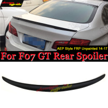 wing Trunk Spoiler FRP Unpainted P Style For BMW Gran Turismo 14-17 Rear Boot Lip Wing GT 5series F07 trunk