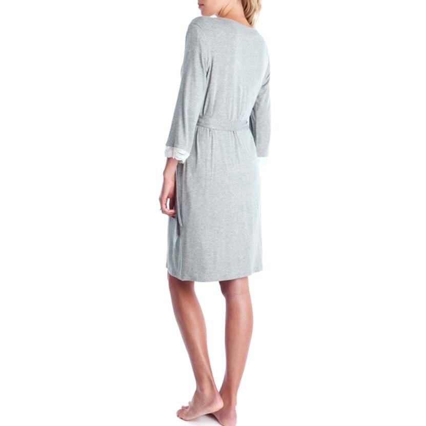 BMF TELOTUNY Fashion Womens Mother Lace Pregnants Casual Nursing Baby For Maternity Pajamas Night-Robe Dress Jun27