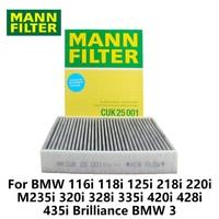 1pc MANN FILTER Car Cabin Filter For BMW 116i 118i 125i 218i 220i M235i 320i 328i 335i 420i 428i 435i Brilliance BMW 3 CUK25001