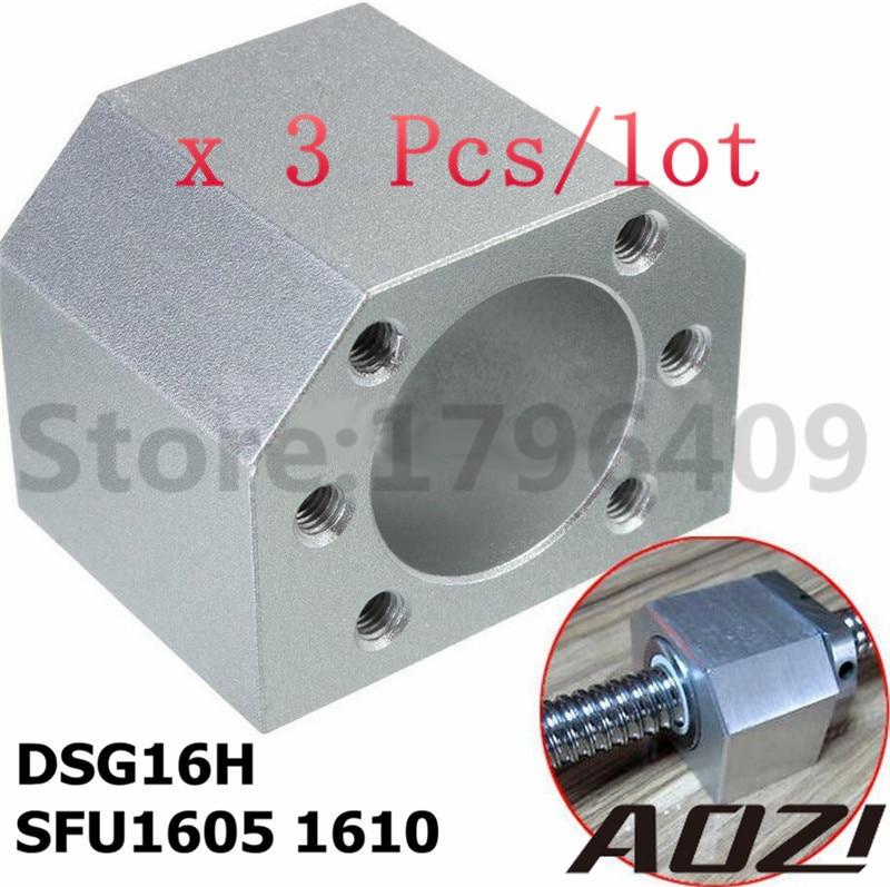 3pcs/lot 1605 Ball Nut Housing Bracket Holder Aluminium For 16mm Ball Screw SFU1605 SFU1604 SFU1610 CNC Parts High Quality