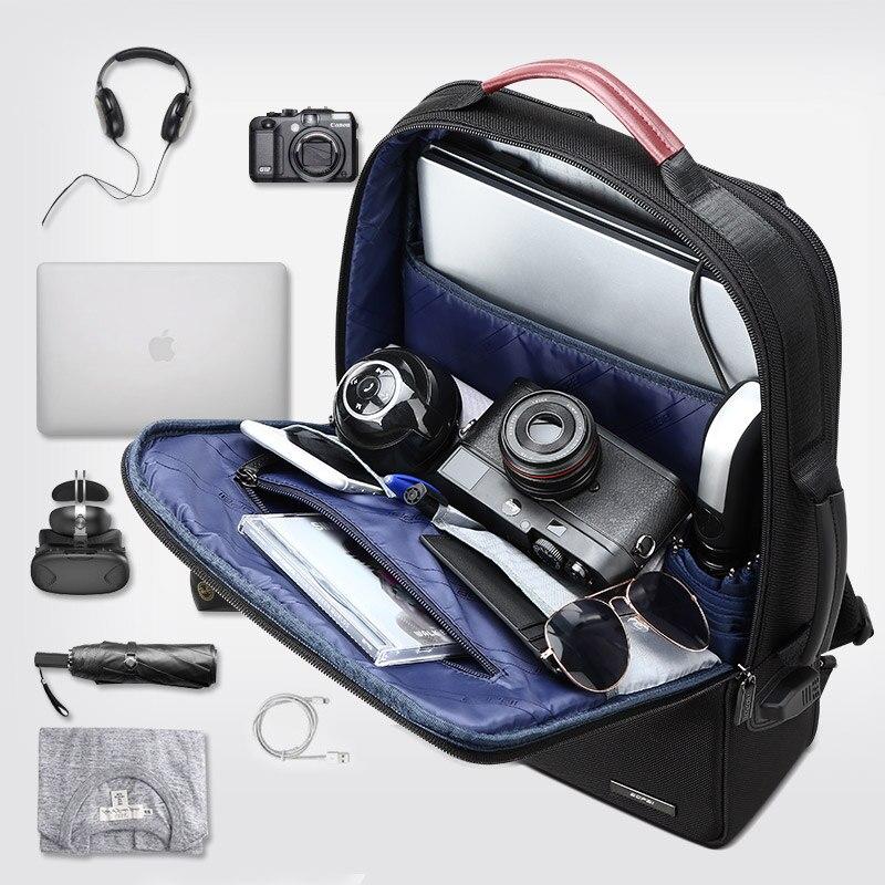 BOPAI hombres de negocios de mochila usb Anti robo de bolso de la computadora el aumento de la capacidad de mochila para portátil - 5