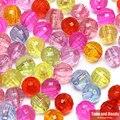 Бесплатная доставка Смешанные Грановитая Акриловые Пластик Lucite круглый шар шарики прокладки 6 8 10 мм Палочки Размеры для изготовления ювелирных изделий AC4 - фото
