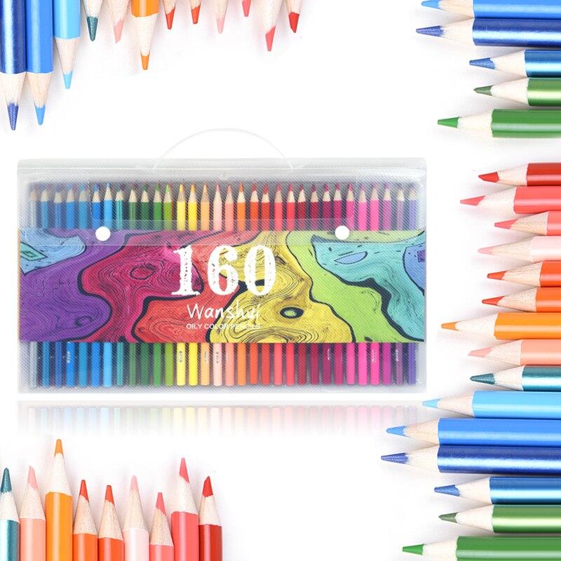 Superior160 couleurs bois crayons De couleur ensemble Lapis De Cor artiste peinture huile couleur crayon pour école dessin croquis Art fournitures