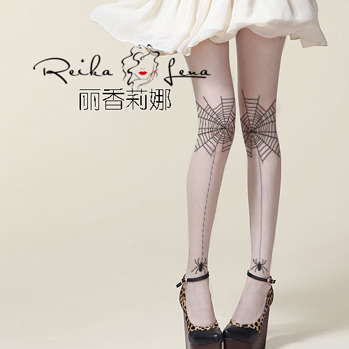 Princess sweet lolita pantyhosePersonality spider silk stockings Street's ultra-thin Alternative special render  pantyhose LKW80