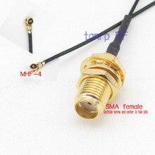 30 СМ 12 дюймов »IPX IPEX I-PEX U. FL MHF4 к SMA женский разъем РФ пигтейл соединительный кабель для PCI WI-FI Карты беспроводной маршрутизатор 0.81 мм