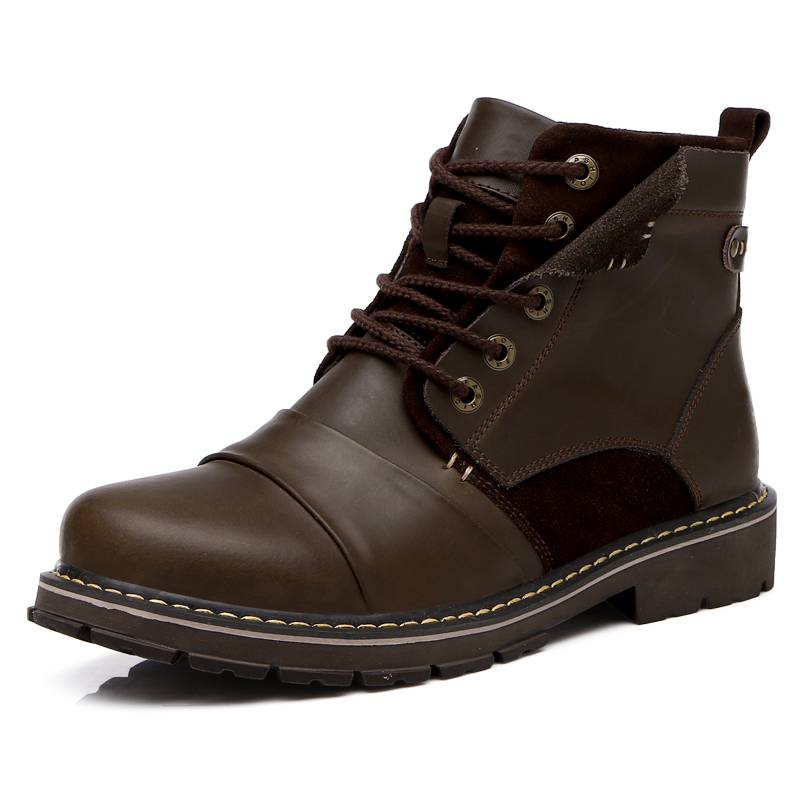 Men Ankle Boots Winter men boots warm genuine leather ...