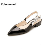 Woman Narrow strap sandals office lady shoes mujer zapato Low heels new arrive 2018 European style plus size 47 45 yellow black