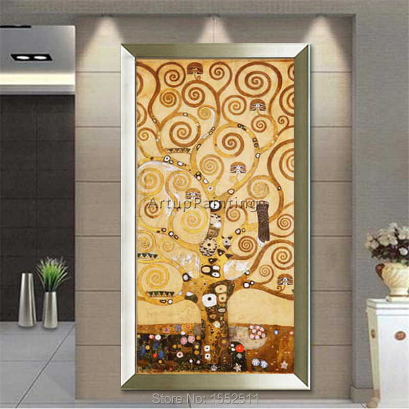 Home Decorat: Aliexpress.com : Buy Canvas Painting Gustav Klimt Hand