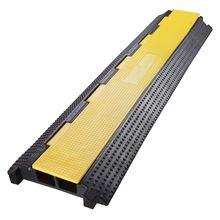 2 канала сверхмощный провод крышка кабель Шнур дорожная рампа протектор ПВХ и резина скорость Bump Дорожная безопасность