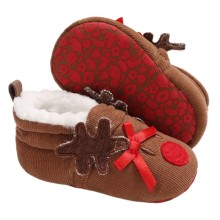 Baby  Winter Shoes Infant Baby First Walker Shoes Plus Velvet Christma