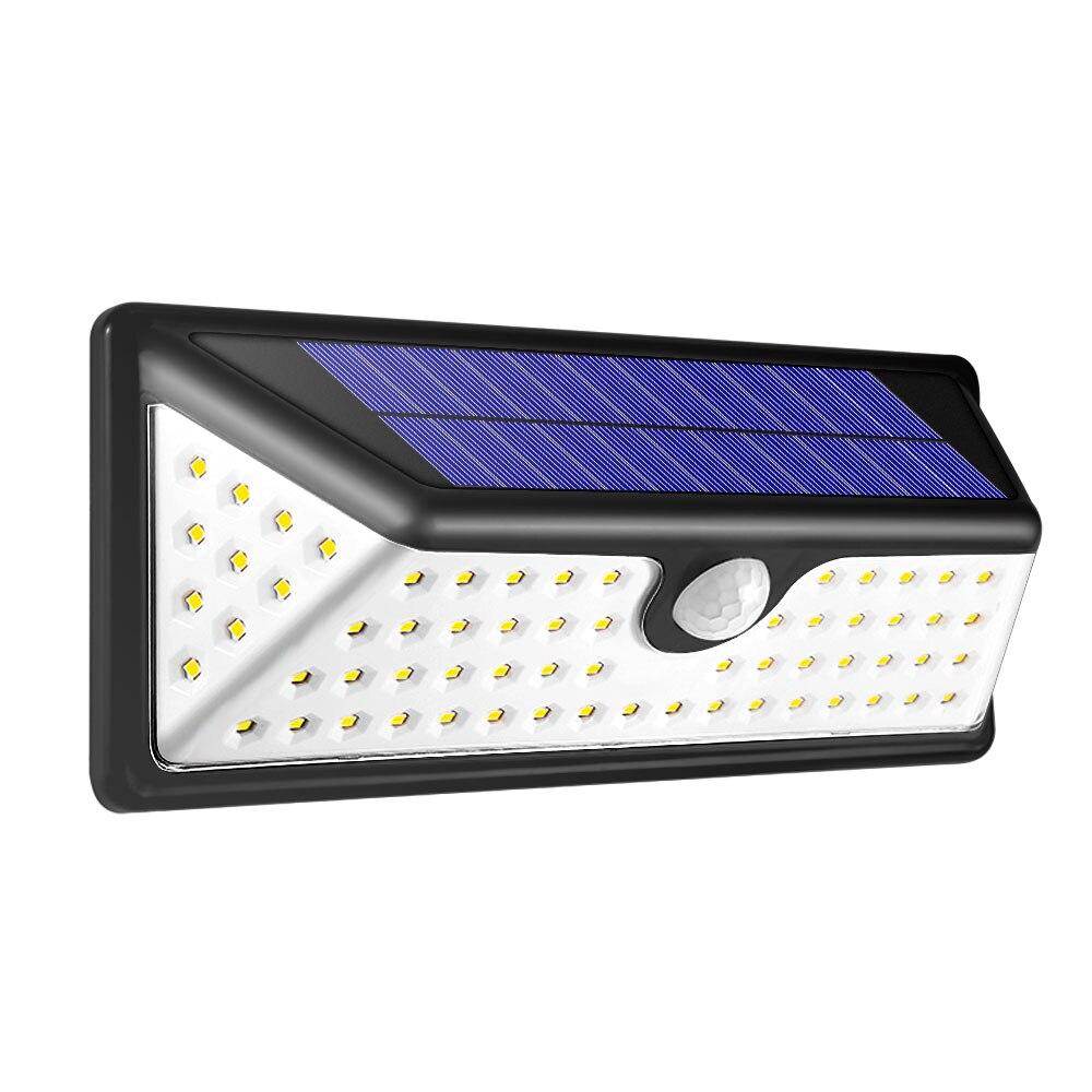 Smart PIR Motion Sensor LED Solar lamp 73 LEDs Outdoor Wall Light Waterproof Energy Saving Street Yard Path Garden Security Lamp