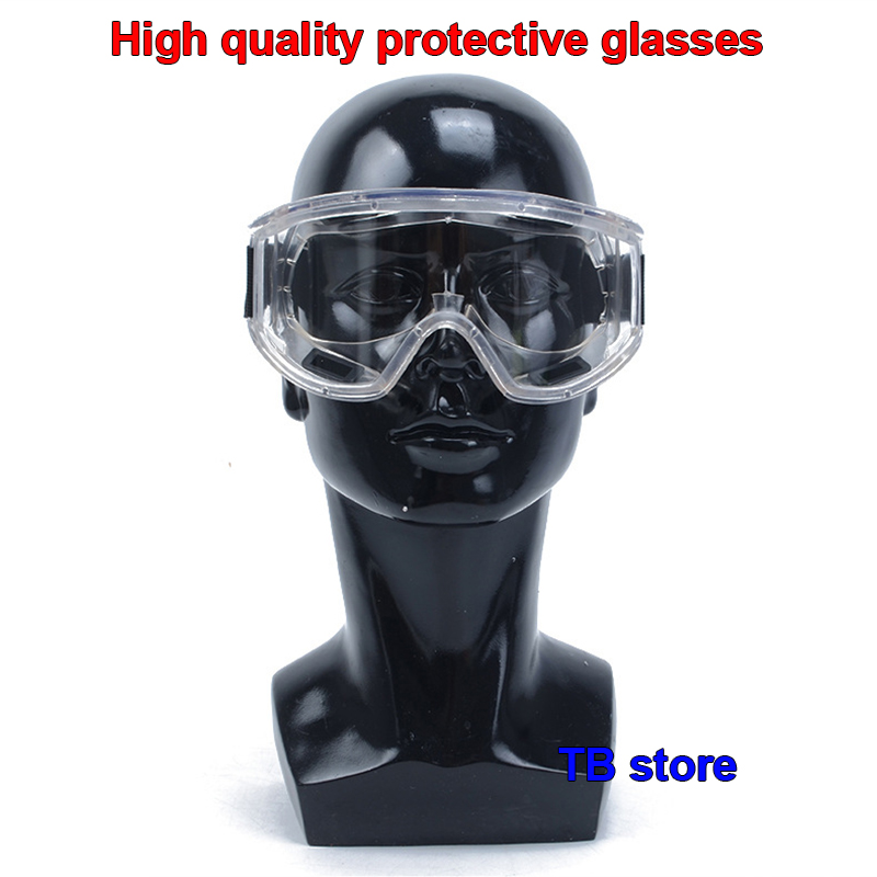 Free shipping Impact resistant polycarbonate protective glasses safety goggles Dust storm cycling dustproof glasses work outdoor sports safety glasses anti impact work protective airsoft goggles cycling eyewear 2103