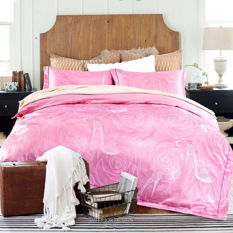 New Modal Silk Cotton Satin Luxury Jacquard Bedding Set bedclothes Duvet cover Bed sheet Pillow case Queen size 4pcsNew Modal Silk Cotton Satin Luxury Jacquard Bedding Set bedclothes Duvet cover Bed sheet Pillow case Queen size 4pcs