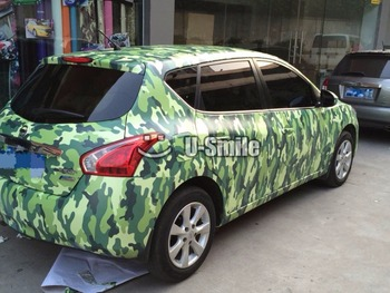 Elite Green Camouflage Vinyl Wrap Military Green Urban Camo Car Film Bubble Free For SUV TRUCK Jeep 30M/Roll