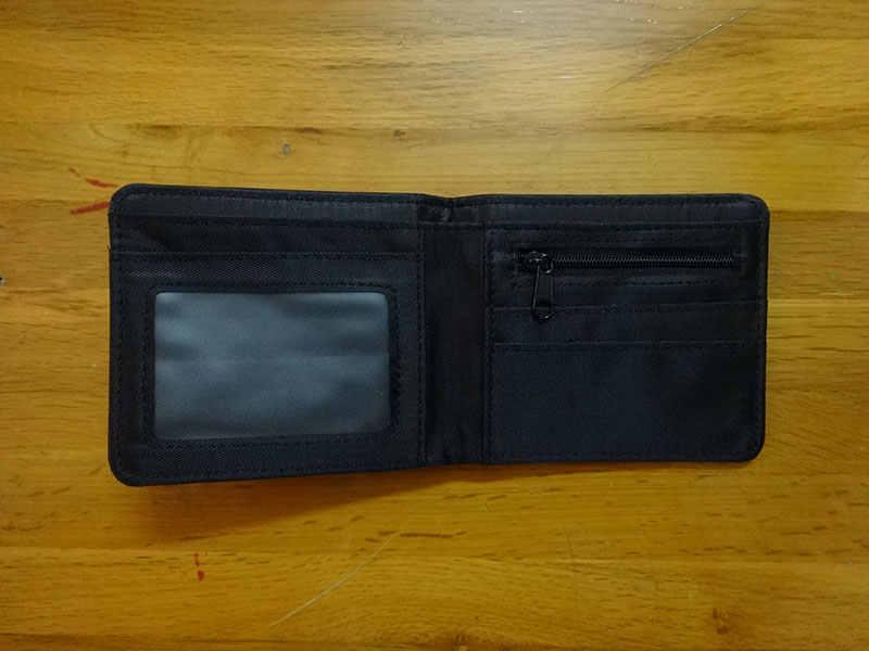Anime Dota Dompet Pendek Kulit Pria Wanita Dompet Carteira Hadiah Fashion Folded Wallet dengan Zipper Koin Saku