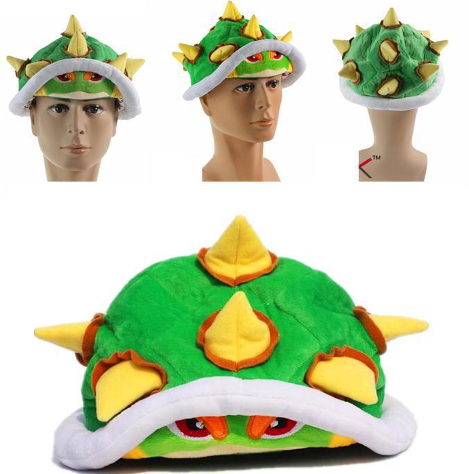 New Arrival 5pcs/lot Mario Koopa bowser plush hat doll Toy adults man cap for Christmas gifts free shipping