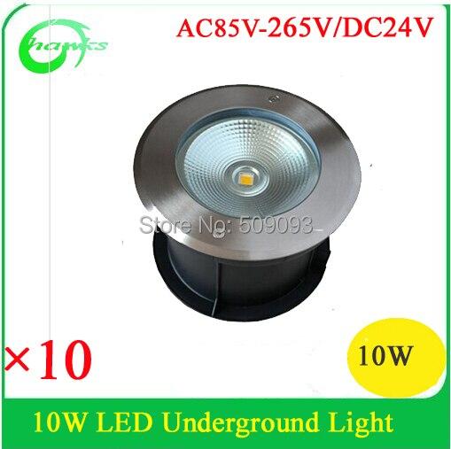 Promotie! cob led verzonken ondergrondse lamp 10 w bestrating ...