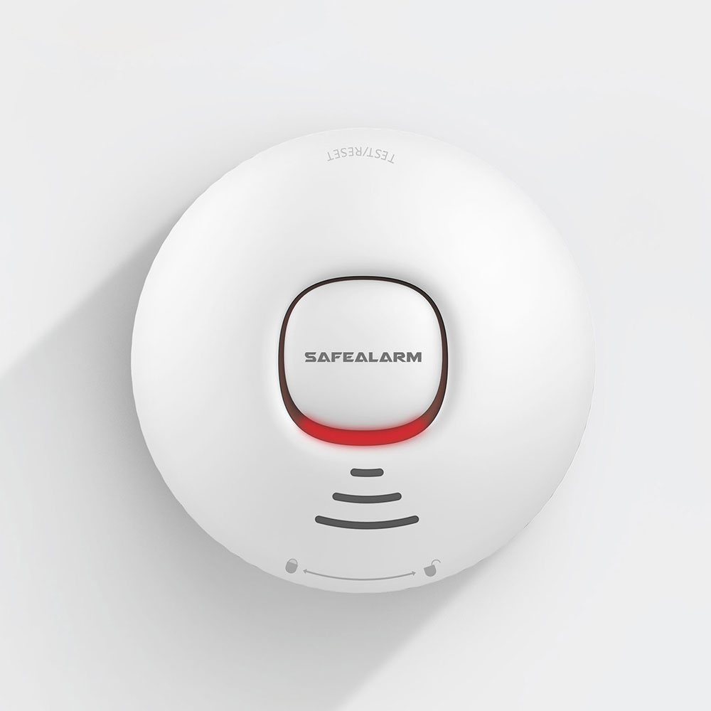 Home security Standalone Smoke Detector Low consumption Strobe buzzer inside long life battery Fire sensor EN 54 7 ceiling alarm in Smoke Detector from Security Protection