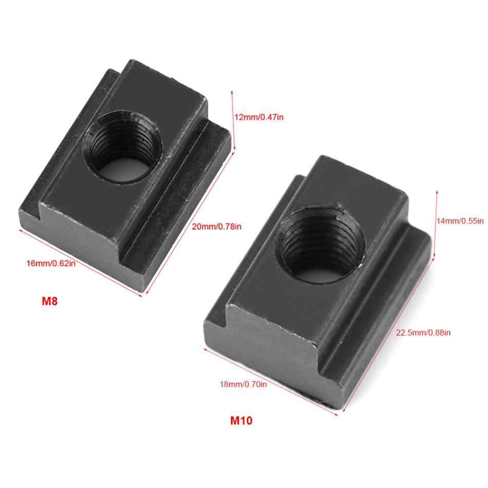 High Hardness and High Strength 5 pcs Black Oxide Finish T-Slot Nut M8 M8//10 Threads T Sliding Nut T Nuts Fit Into T-Slots in Machine Tool Tables