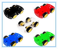 Free Shipping 5 Colors Choose One Color 4WD Smart Robot Car Chassis Kits For Arduino With