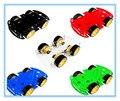 O envio gratuito de 5 cores (escolha uma cor) 4WD Chassis Do Carro Robô Inteligente Kits para arduino com Velocidade