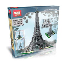 NEW LEPIN 17002 Building Series Eiffel Tower Model Building Kit Minifigure Blocks Bricks Compatible Children Toy Gift