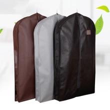 Расширяющийся чехол для одежды из нетканого материала пылевлагостойкий подвесной мешок для зимней одежды Защита мехового пальто AHD001
