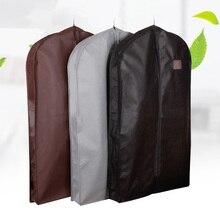 Расширяющийся чехол для одежды из нетканого материала, Пыленепроницаемая подвесная сумка для зимней одежды, защита для шубы AHD001