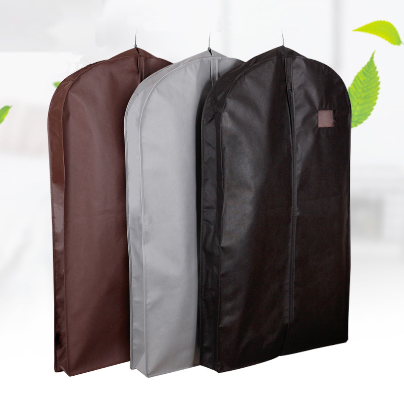 Widening Clothes Cover Non-woven Fabric Dust Moisture Proof Hanging Bag For Winter Clothes Fur Coat Protector AHD001